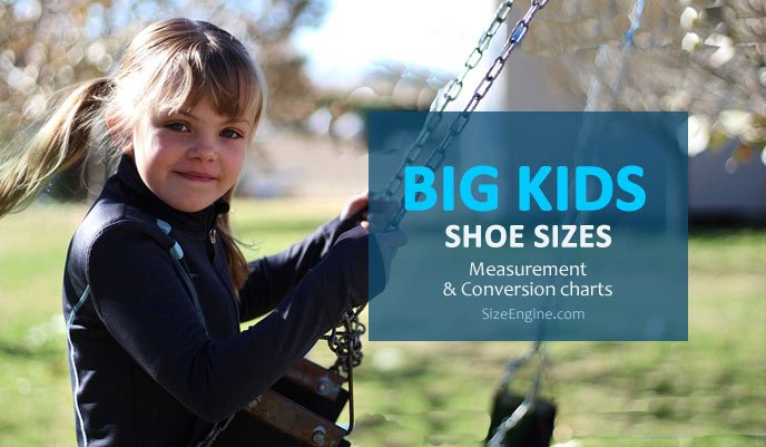 Big Kids Youth Junior Shoe Sizes