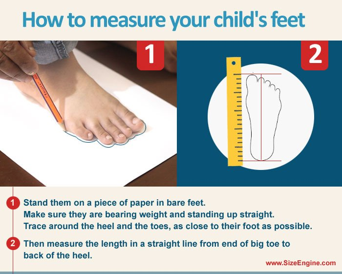 How to Measure Kids Shoe Size